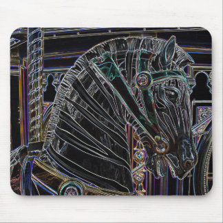 Zebra Carousel Horse Mouse Pads