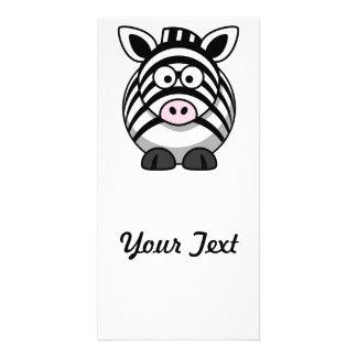 Zebra Cartoon Photo Card