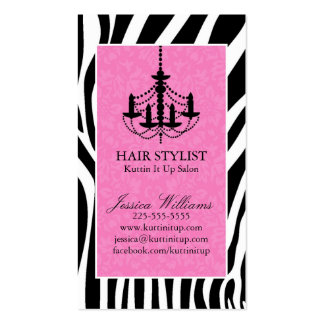Zebra & Chandelier Double-Sided Standard Business Cards (Pack Of 100)