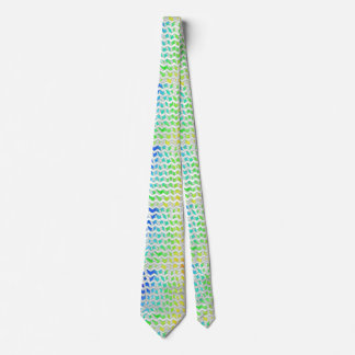 Zebra Chevron Rainbow and White Print Tie
