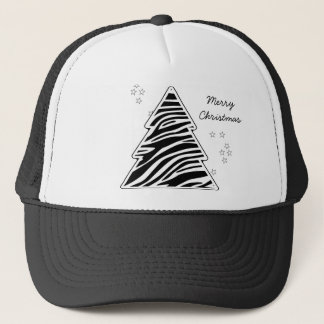 Zebra Christmas Tree Hat