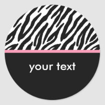 Zebra Classic Round Sticker