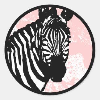 zebra. classic round sticker