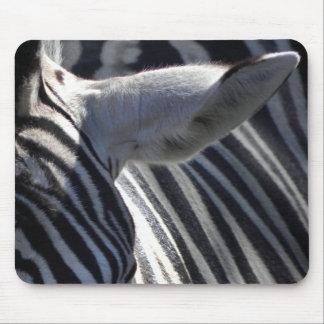 Zebra Close Up Mouse Pad
