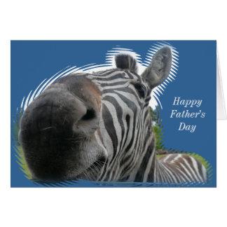 Zebra Closeup - Happy Father's Day Card