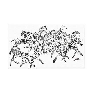Zebra Confusion Camouflage - Canvas White