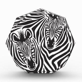 Zebra Couple Acrylic Award