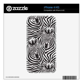Zebra Couple Skins For iPhone 4