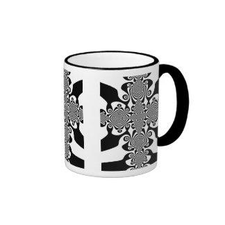 Zebra Cross Ringer Coffee Mug