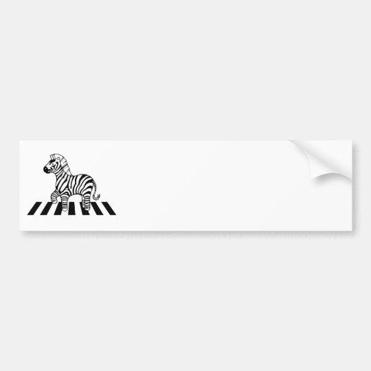 Zebra Crossing Bumper Sticker