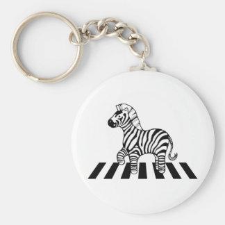 Zebra Crossing Keychain