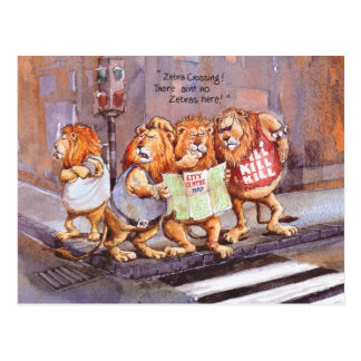 Zebra crossing postcard