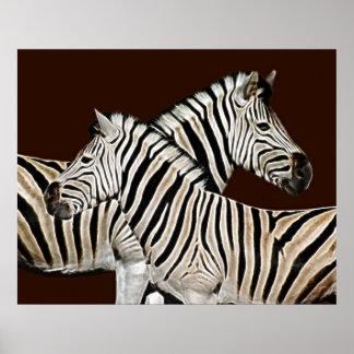 Zebra crossing print