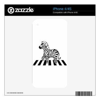 Zebra Crossing Skin For iPhone 4
