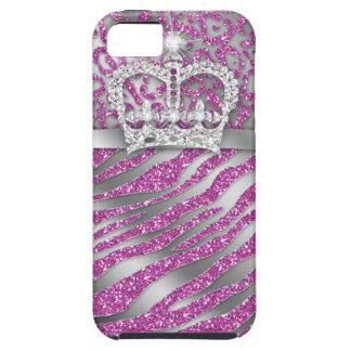 Zebra Crown iPhone Case Mate Tough Jewelry Glitter iPhone 5 Cases