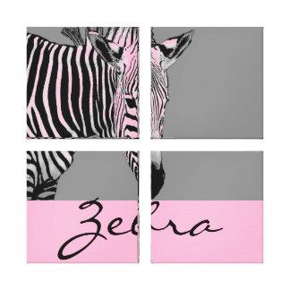 Zebra - Customize Color Canvas Print