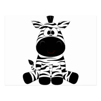 Zebra Cute Animal Stripes Jungle Safari Whimsical Postcard