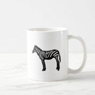 Zebra cutting picture zebra classic white coffee mug
