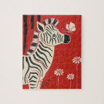 Zebra, Daisies & Butterfly Puzzles