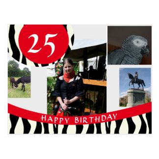 Zebra Design Birthday Card
