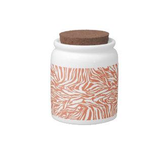 Zebra Design Candy Jar