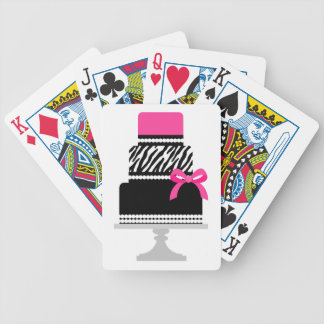 Zebra Diva Cake Bicycle Playing Cards