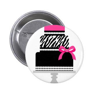 Zebra Diva Cake Pinback Button