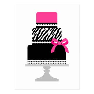 Zebra Diva Cake Postcards