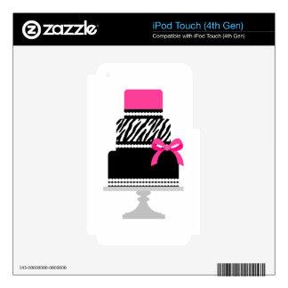 Zebra Diva Cake Skins For iPod Touch 4G