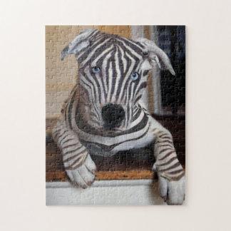 Zebra Dog Jigsaw Puzzle