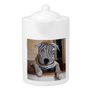 Zebra Dog Teapot
