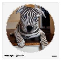 Zebra Dog Wall Decal