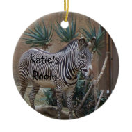 Zebra Door Hanger Ornament ornament