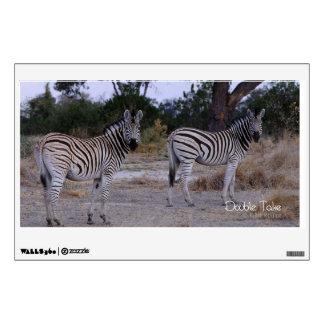 Zebra Double Take Photo Wall Sticker