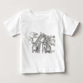 Zebra Drawing Baby T-Shirt