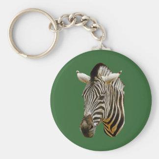 Zebra Drawing Key Chain
