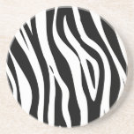 zebra drink coaster