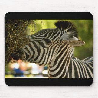 Zebra Eating Mousepad