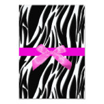 "Zebra Event Invitation Pink 3.5"" X 5"" Invitation Card"
