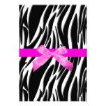 Zebra Event Invitation Pink Personalized Invites