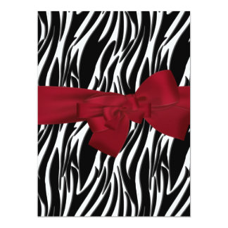 Zebra Event Invitation Red large