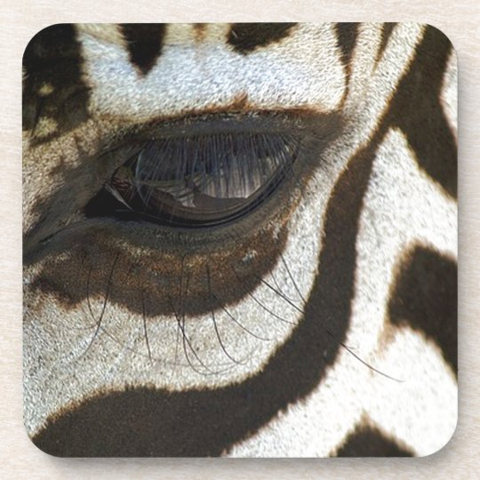 Zebra eye cute serene image beverage coaster