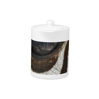 Zebra eye cute serene image teapot