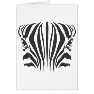 Zebra Eyes Card