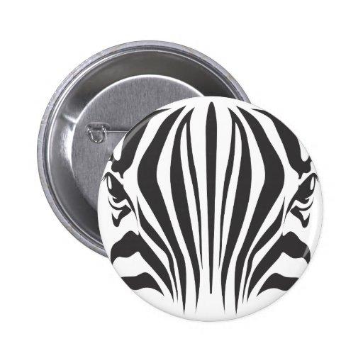 Zebra Eyes Pinback Button