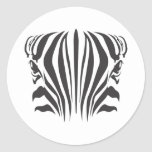Zebra Eyes Round Sticker