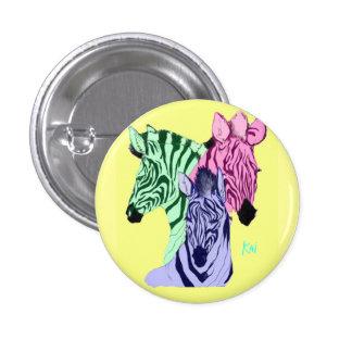 Zebra Eyesore Pinback Buttons