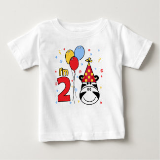 Zebra Face  2nd Birthday Baby T-Shirt