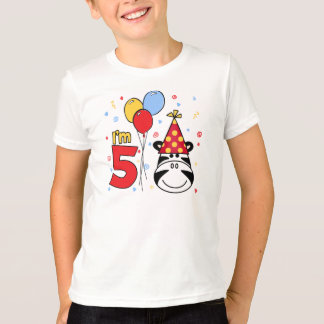 Zebra Face  5th Birthday T-Shirt