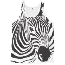 Zebra Face All-Over-Print Tank Top